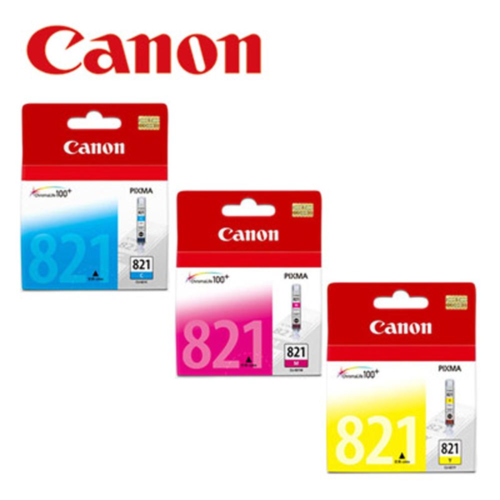 CANON CLI-821Y+M+C 原廠彩色墨水組合(共3顆)