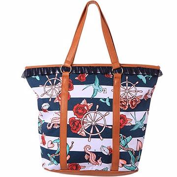 『摩達客』美國Iron Fist鐵拳海邊貝殼托特包側背包大包包