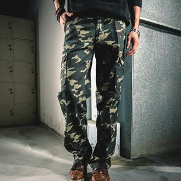 【FATAN 】迷彩多袋伸縮長褲