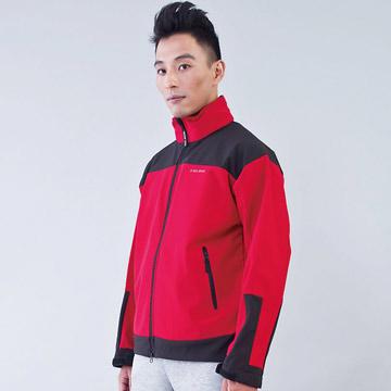 TECL-WOOD《96612》防風防水透氣保暖Soft Shell(軟殼)外套(紅/黑)(男)