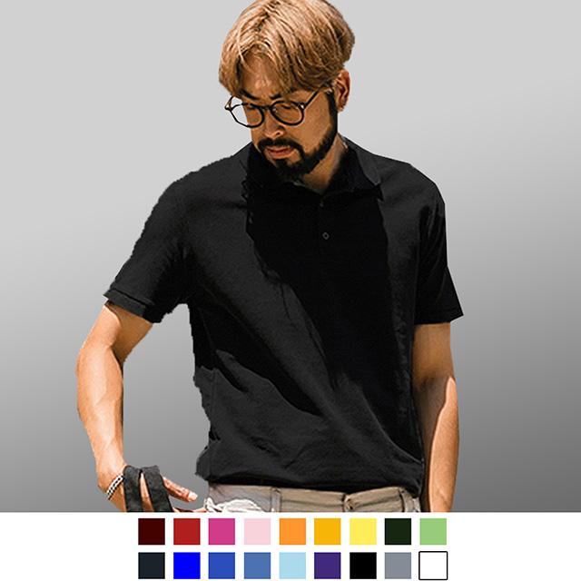 【男人幫】P1168*全素面百搭基本款時尚CVC素領短袖網眼POLO衫