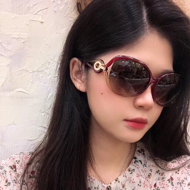 Christian Dior 時尚太陽眼鏡 茶紅框漸層茶鏡片