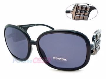 BURBERRY 太陽眼鏡 搶眼九宮格鉚釘設計 時尚黑 B4019-B