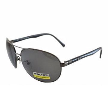 POLICE 時尚飛行員偏光太陽眼鏡★金屬質感框面★ POS8641568P