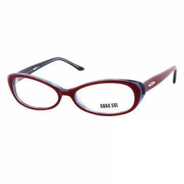 Anna Sui 日本安娜蘇 時尚漸層造型平光眼鏡(紅+藍) AS09002