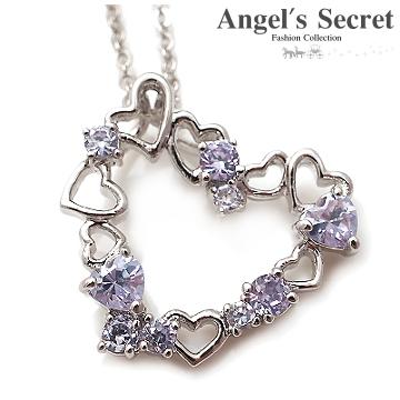 【Angel's Secret】璀璨真心˙愛情寶石晶鑽項鍊-紫羅蘭