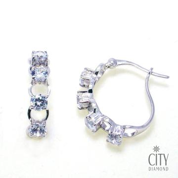 City Diamond『心串球』K金耳環_ZE0951W