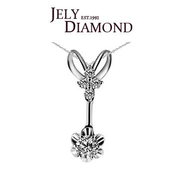 【JELY】夏日圓舞曲0.30克拉-H&A八心八箭美鑽項鍊