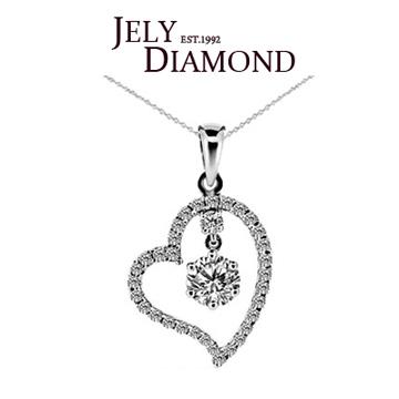 【JELY】幸福洋溢0.30克拉-H&A八心八箭美鑽項鍊