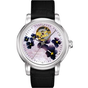 TISSOT Lady Heart 心跳鏤空機械腕錶(T0502071610600)