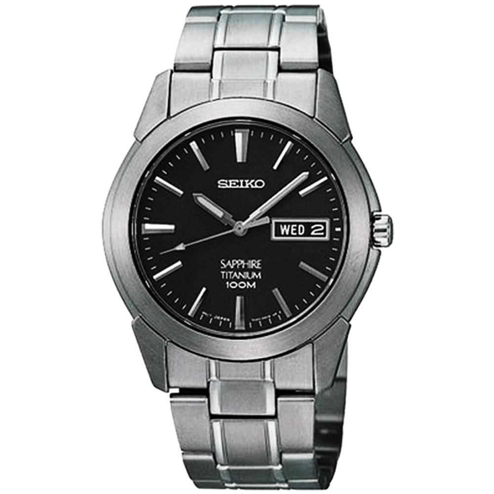SEIKO 鈦金武士時尚腕錶-鐵灰 7N43-0AS0D(SGG731P1)