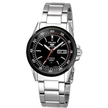 SEIKO 復古5號機械腕錶(IP黑框)-MADE IN JAPAN