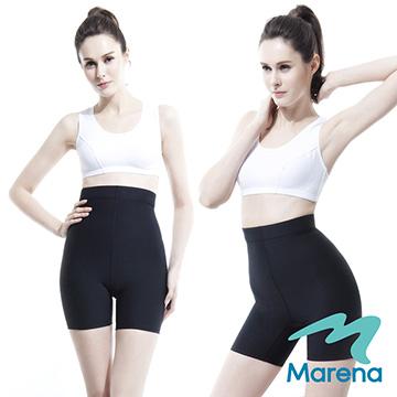 【美國原裝Marena】三分高腰提臀塑身褲/顯瘦機能束褲★黑★