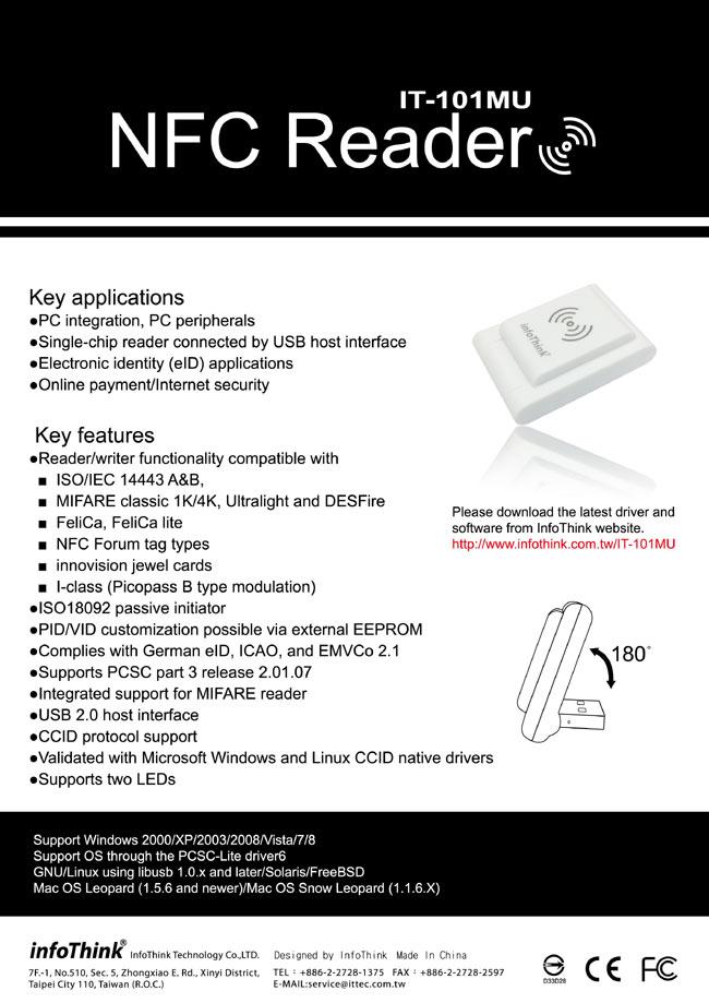 InfoThink IT-101MU 感應卡NFC讀卡機- PChome 24h購物