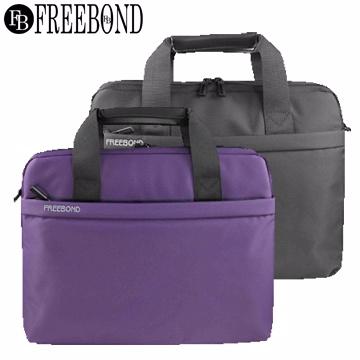 【Freebond】14摩登電腦公事包TX005-14(黑)