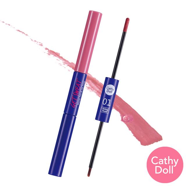 【Cathy Doll 凱蒂娃娃】水潤亮色二合一唇釉筆(2.4g+2.5g/支)