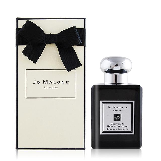 Jo Malone Vetiver&Golden Vanilla 香根草與黃金梵尼蘭芳醇古龍水(50ml)(附外盒+緞帶+提袋)