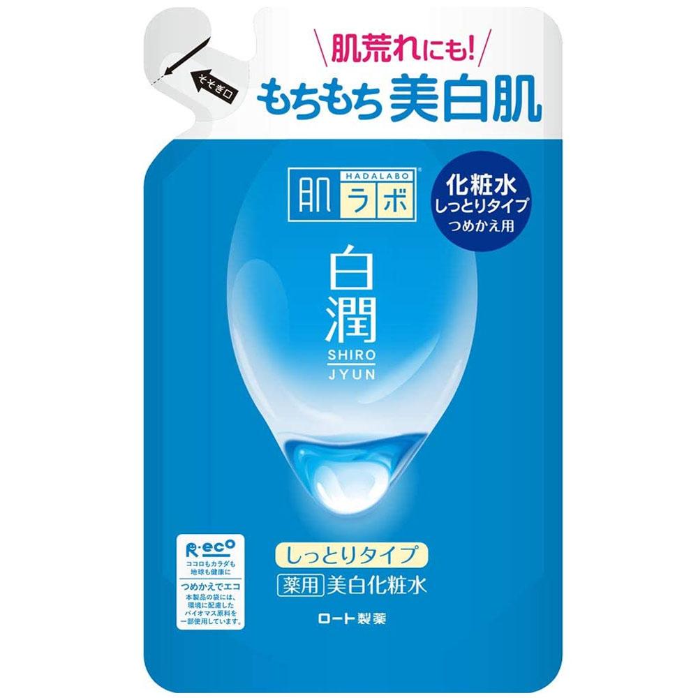 日本ROHTO肌研白潤淨白化妝水(滋潤) 補充包170ml