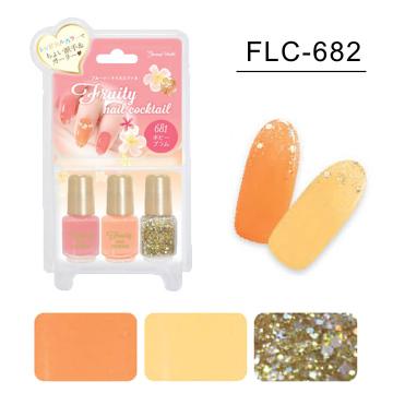 日本 LUCKY-甜美風三色指甲油(FLC-682)
