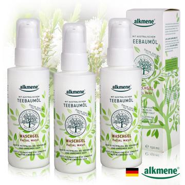 德國alkmene茶樹精油淨白控油潔顏露150ml小康三入組