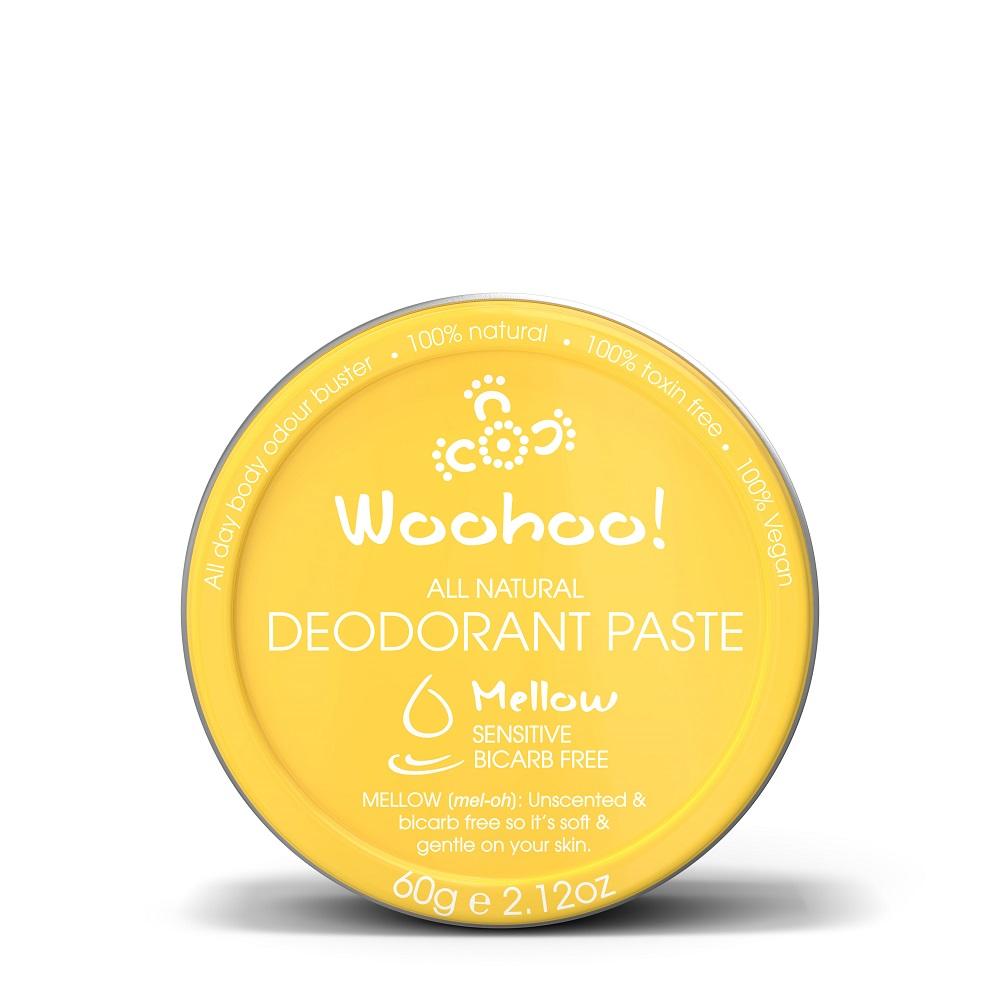 澳洲Woohoo Body哇呼神奇體香膏--無香款(Mellow)60g錫罐裝