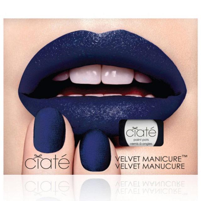 英國Ciaté夏緹Velvet Manicure Set天鵝絨指甲油組合-Blue Suede深藍絨毛