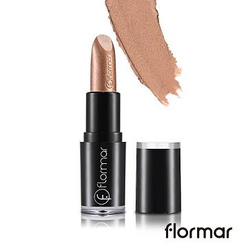 【法國 Flormar】奢金搖滾唇膏#30奢金提拉(3.9g)