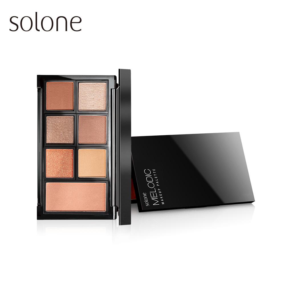 Solone 專屬訂製眼彩盤_演奏家 (眼影6色+腮紅1色) 11.5g