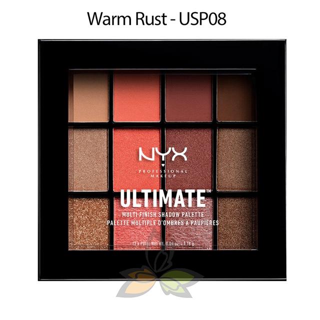 NYX Ultimate 12色眼影盤 Warm Rust 12x1.18g