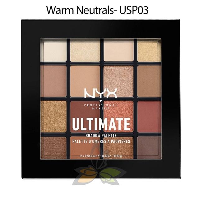 NYX Ultimate 16色眼影盤 Warm Neutrals 16x 0.83g