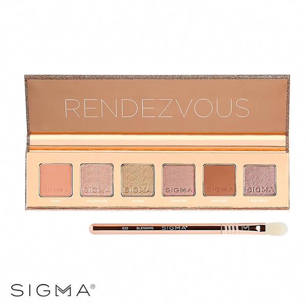 【Sigma】極致煥顏6色眼影盤 6g 附E25迷你暈染眼影刷 Rendezvous Eyeshadow Palette