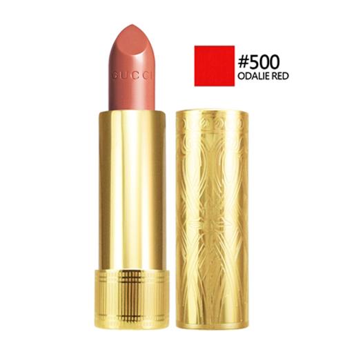 GUCCI 潤澤絲絨唇膏#500 ODALIE RED 3.5g