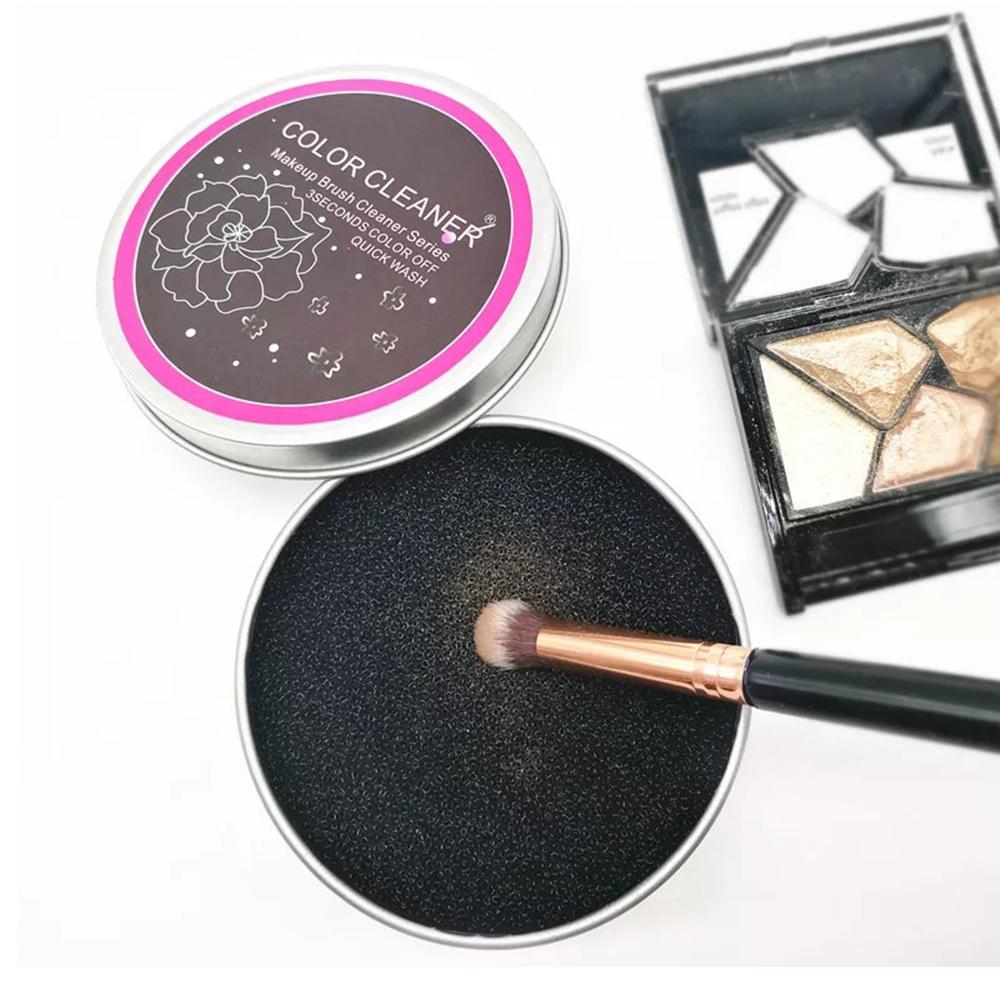 化妝刷清潔海棉 (附鐵盒)