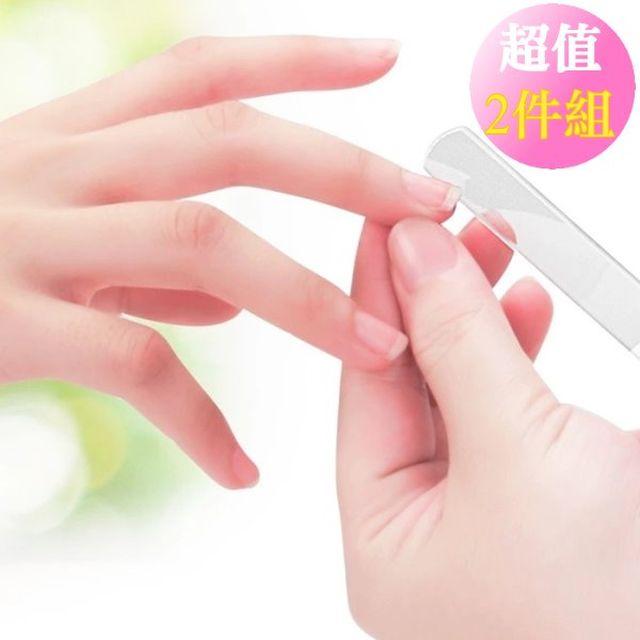【Oni歐妮】日本美甲達人亮甲神器 磨亮指甲護理拋光美甲銼刀-2入