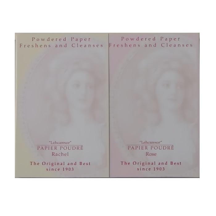Papier Poudre 英國女王小頭補妝用化妝粉紙( 自然膚色-3包+玫瑰粉色-3包, PP-1203 )