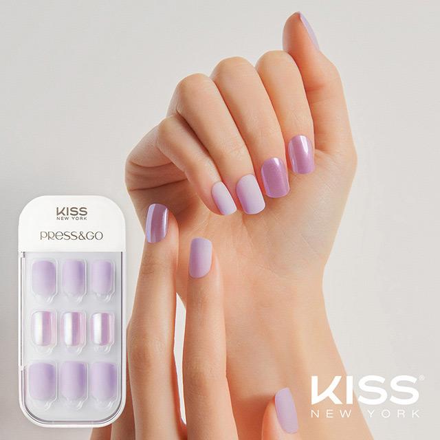 【美國 KISS New York】Press&Go頂級光療指甲貼片(偷偷看你 KPNA06K)(30片)