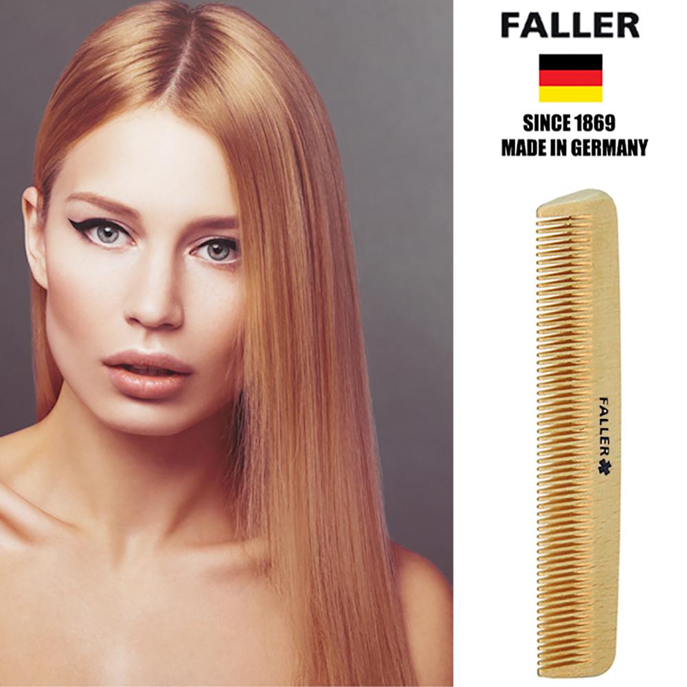 德國FALLER芙樂 德國製 木齒梳 防靜電柔順直髮 FSC優質木材 方便隨身攜帶