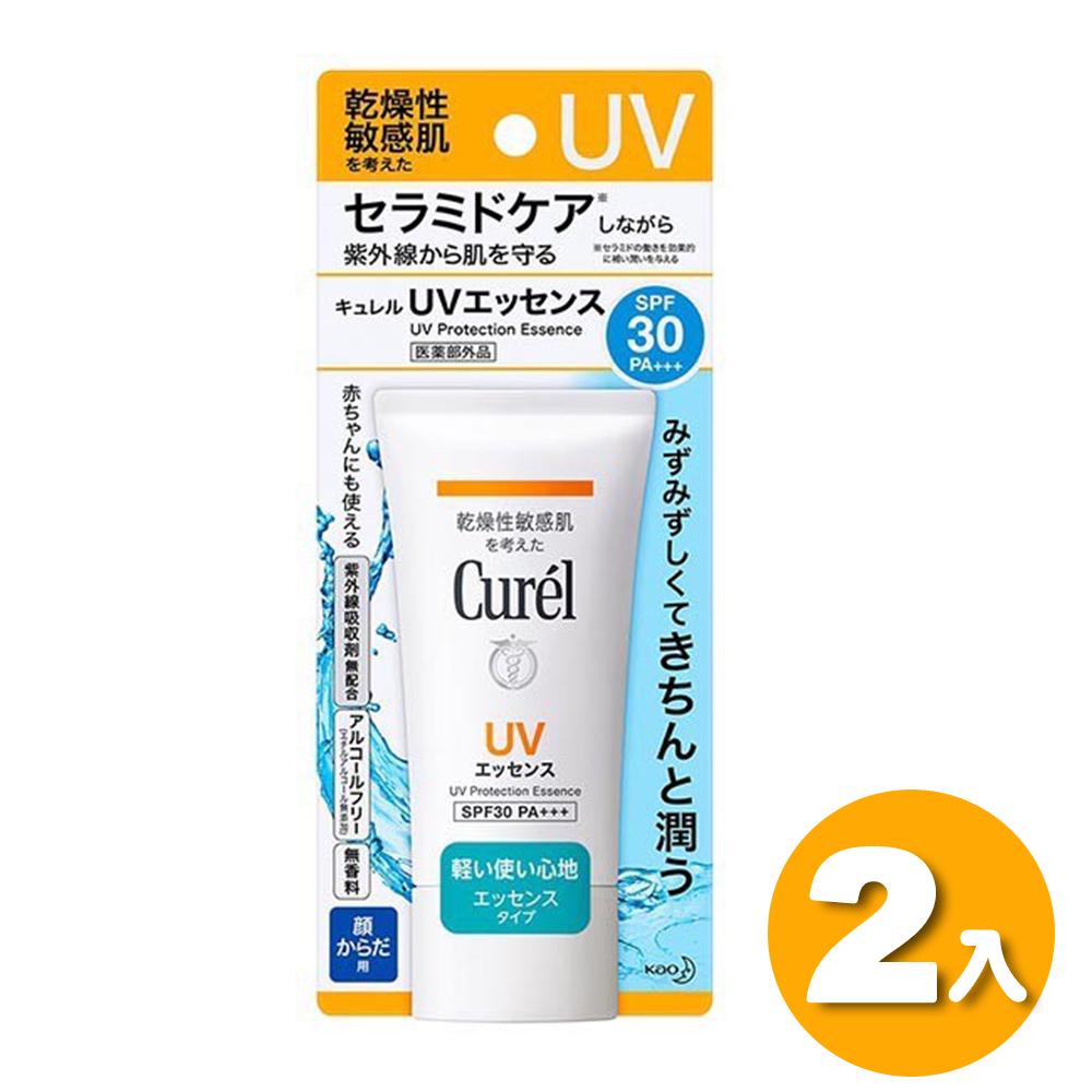 2入組【Curel】潤浸保濕輕透水感防曬乳 50g(臉、身體用 SPF30)
