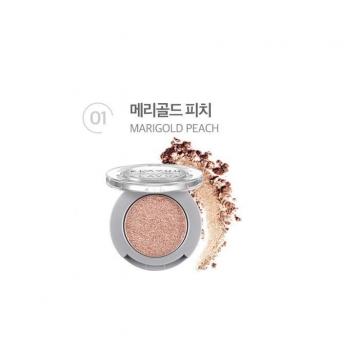 韓國 KLAVUU 珠光單色眼影  01.Marigold Peach