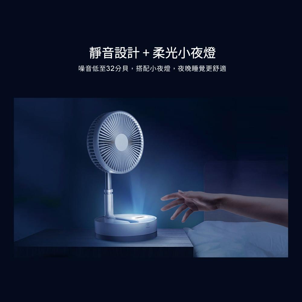 【LOOKING 錄得清】P10 電風扇(可遙控 伸縮折疊 迷你 充電 落地扇 USB充電 type-C)