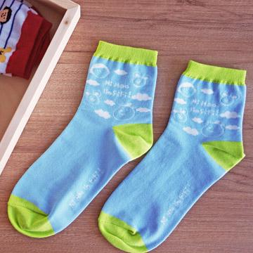 FiFi棉短襪/ 藍天白雲