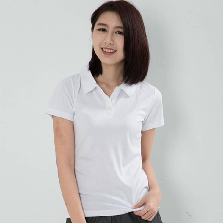 女性快速排汗POLO衫 白