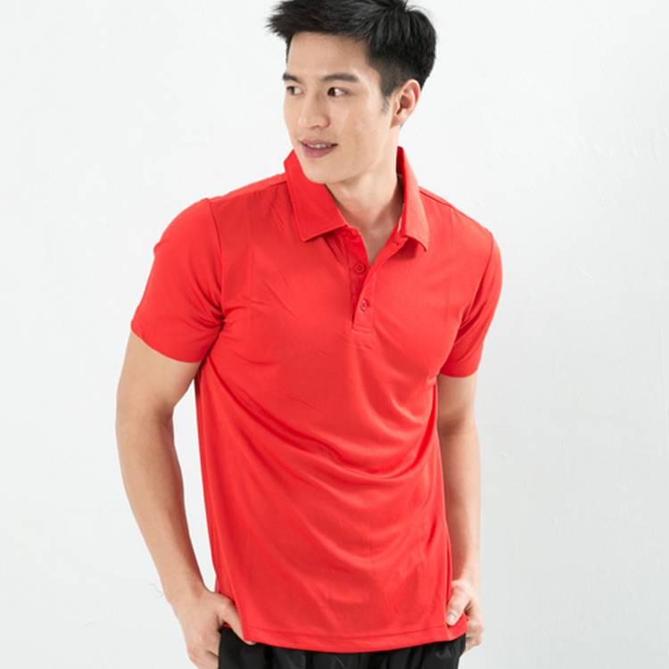男性快速排汗POLO衫 紅
