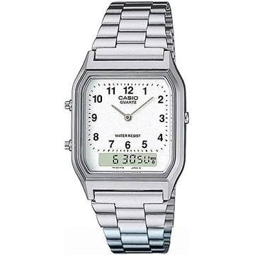 【CASIO】金色時尚熟男指針錶-數字白面