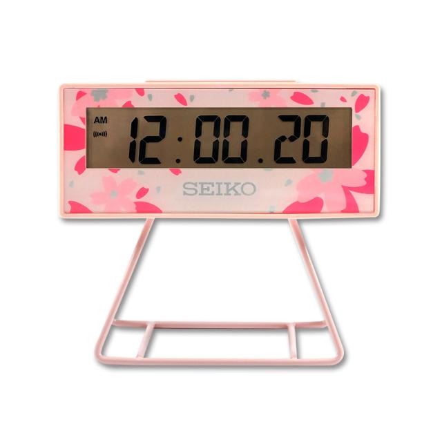 【SEIKO】精工 鬧鐘 QHL082P 櫻花款 粉 電子鐘 嗶嗶聲 日曆 貪睡 燈光