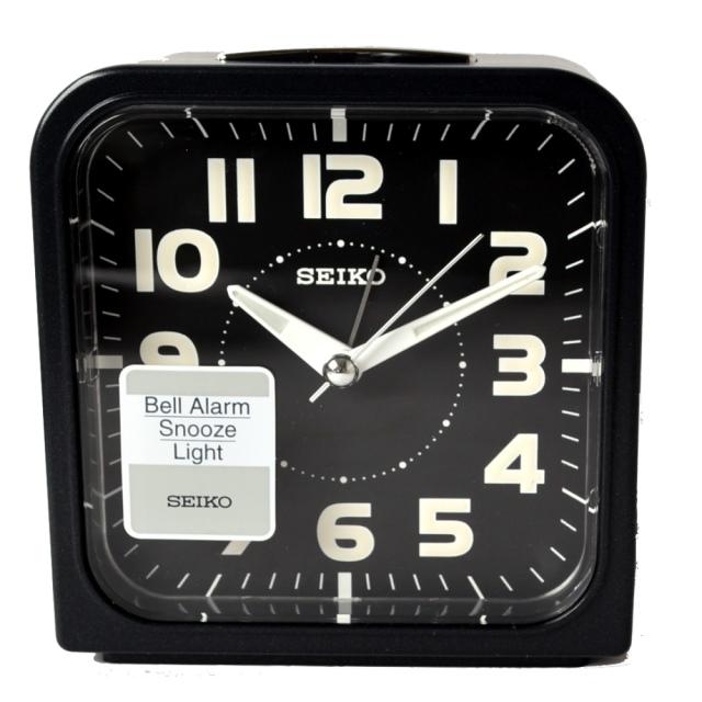SEIKO 精工色彩美學時尚鬧鐘-黑x黑框(QHK025K)