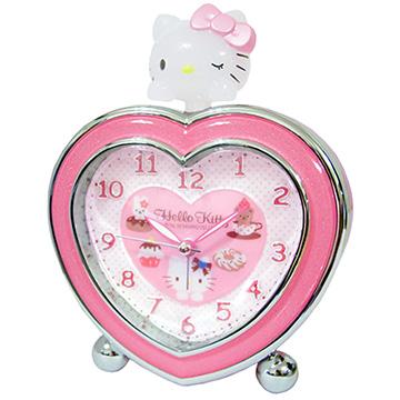 【Hello Kitty】心心相印 超靜音貪睡鬧鐘