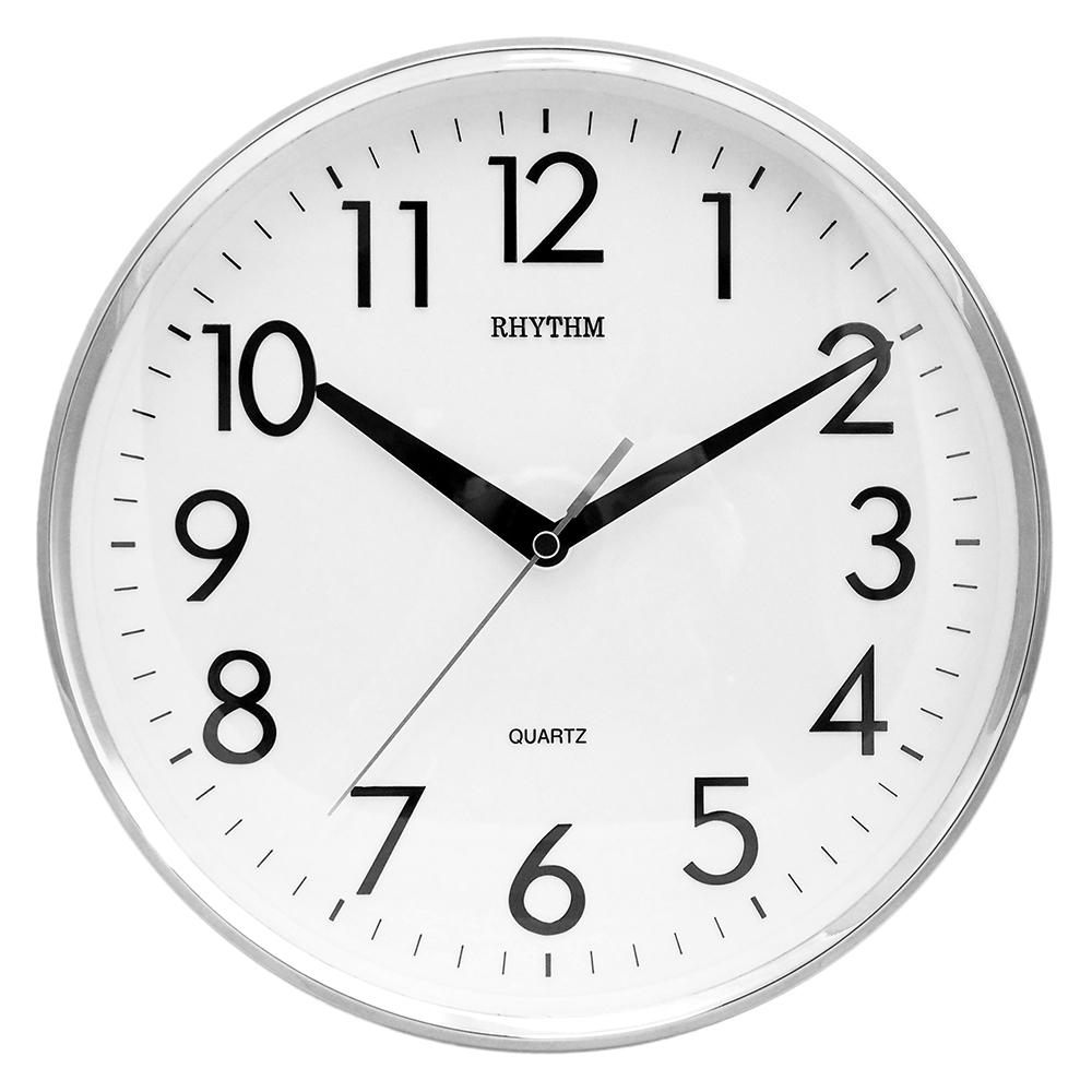 日本麗聲鐘-簡約經典款居家掛鐘/立體數字/超靜音走時/未來感金銀雙色款(優雅銀)