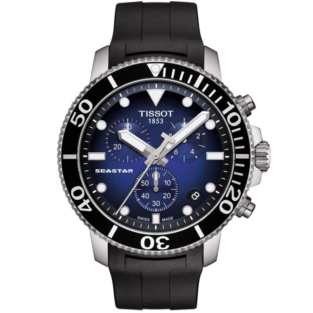 TISSOT 天梭 SEASTAR海星計時300米潛水錶/45.5mm (T1204171704100)