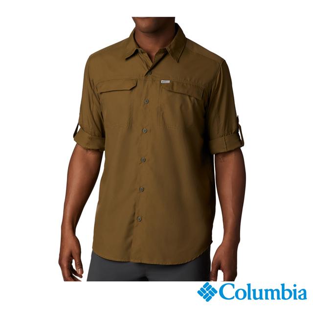 Columbia哥倫比亞 男款-防曬50快排襯衫-軍綠 UAE06510AG